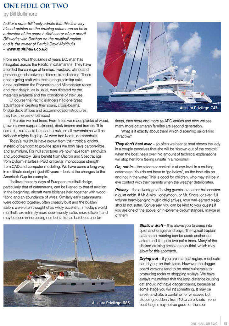 Berthon Market Report - One Hull or Two