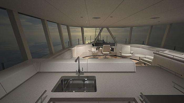 FPB 78 Interior – 2 Galley Interior