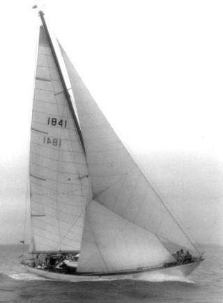 The 36 ton Shelmalier under sail - photo by Beken of Cowes, 1968