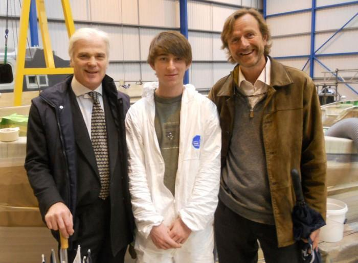 Local MP visits Berthon and meets Apprentices