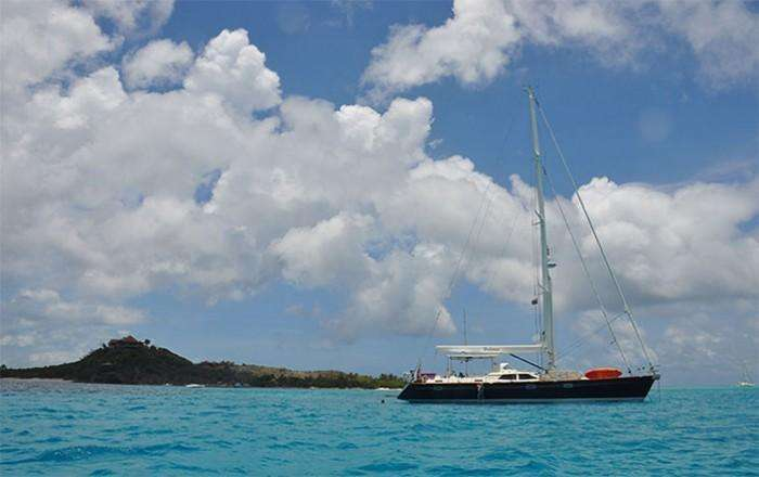 Berthon - DULCINEA – Anchored off Necker Island