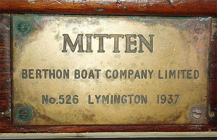 Mitten's original name plate (figure 3)
