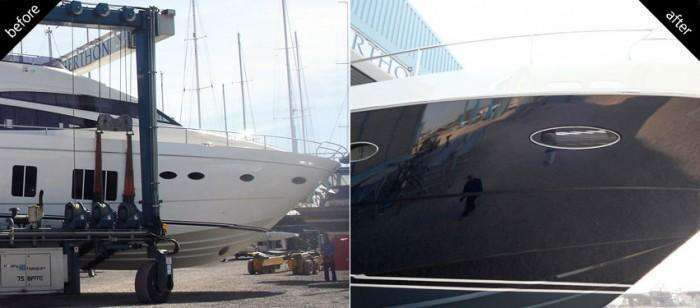 Princess P78 Yacht Paint Respray