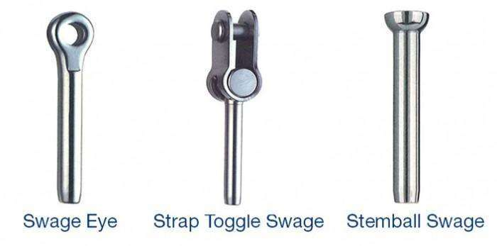 Berthon - Swage Terminals - Swage Eye, Strap Toggle and Stemball