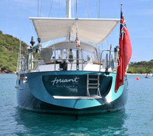 Truant of Sark following her refit and respray.