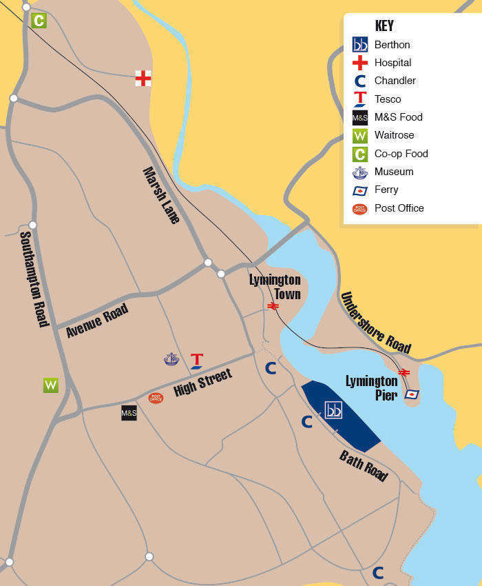 Lymington Map