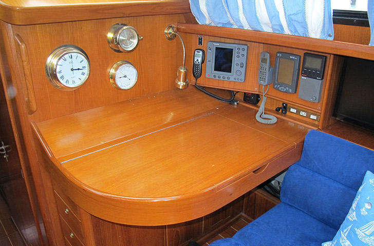 Nav Station on Northwind 50 sailing yacht