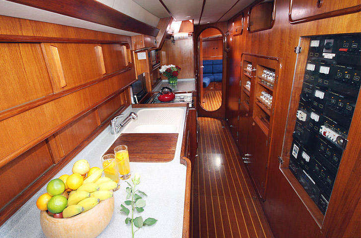 Galley looking aft oyster 62