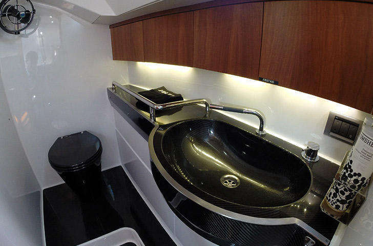 Baltic 45 all carbon heads, carbon sink, carbon toilet