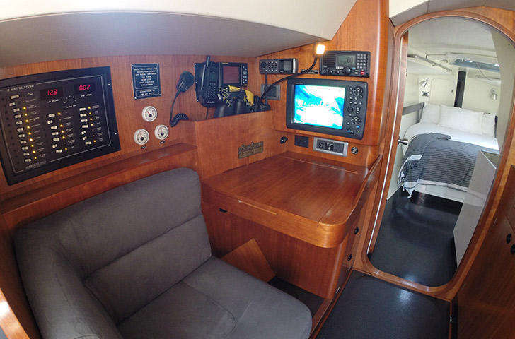Baltic 45 chart table nav station