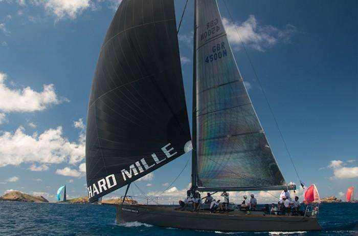 Baltic 45 sailing with Asymmetric Spinnaker black