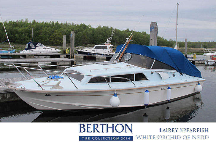 Fairey Spearfish 30ft motoryacht for sale with Berthon