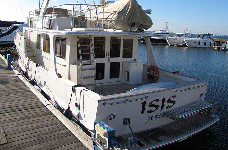 Aft view of fleming 55