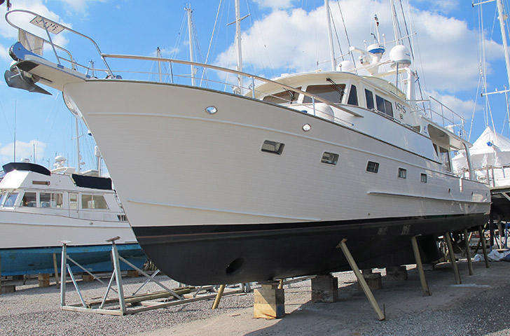 Fleming 55 Bow view