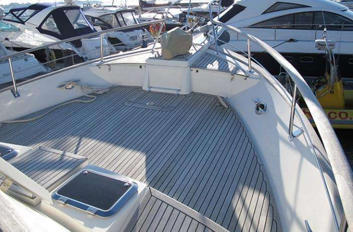 Fleming 55 foredeck