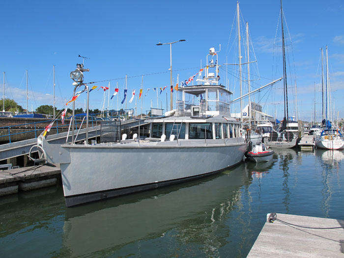 GREY WOLF dresses overall at Berthon Lymington Marina