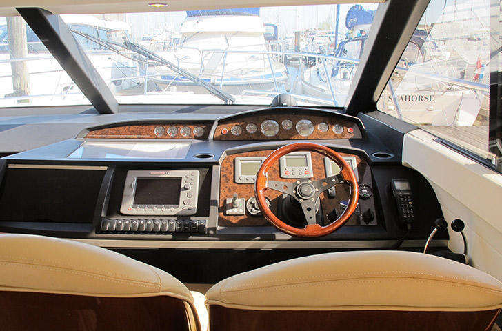 Interior helm position Princess 42