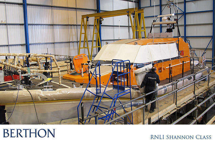 RNLI SHannon Class in Build at Berthon Boat Co