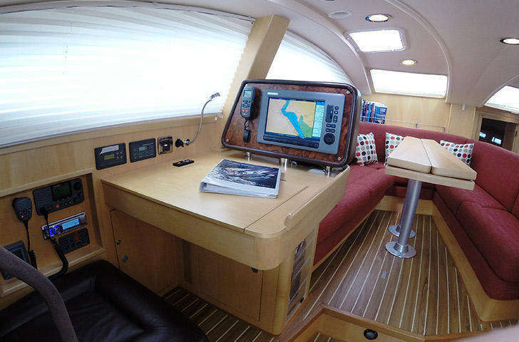 Southerly 49 chart table nav station