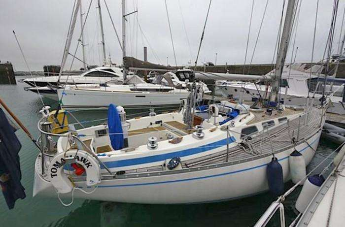 Swan 38 aft view