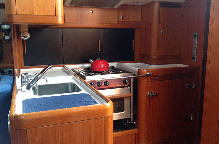 Swan 46 galley