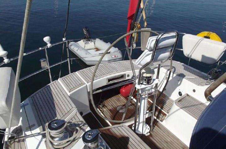 Sweden 45 for sale Helm position