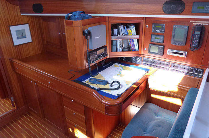 Sweden Yachts 45 Chart Table