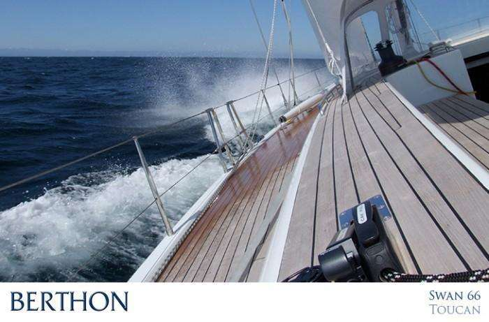 Swan 66FD - side deck sailing