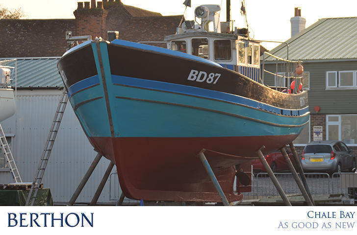 CHale Bay - BD97 - Wooden Fishing Vessel repair by Berthon Boat Company Lymington