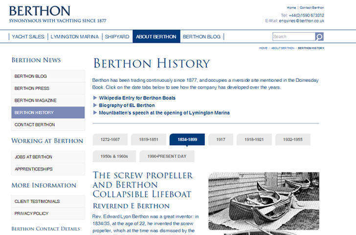 The History of the Berthon Boat Company and Lymington Marina