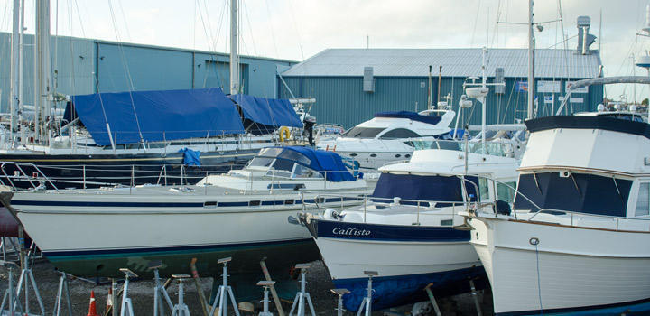Yacht Winter Layup at Berthon Boat Yard