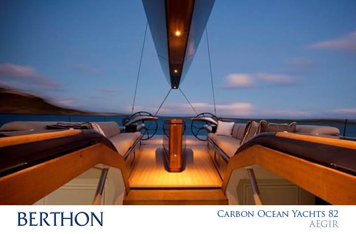 Carbon Ocean Yachts 82 on deck