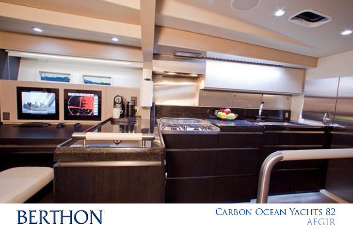 Carbon Ocean Yachts 82 galley