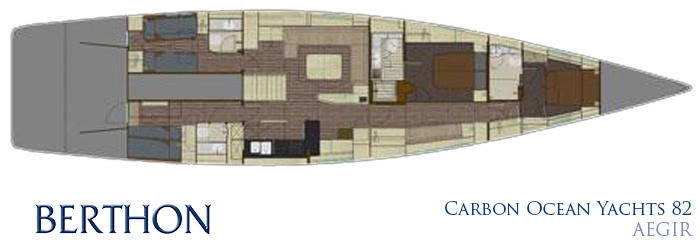 Carbon Ocean Yachts 82 interior plan
