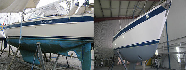 HR 36 Before and after paint