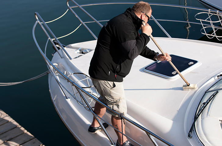 Have your yacht spring cleaned at Berthon
