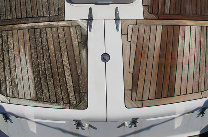 Before and After Teak Treatments