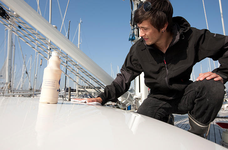 Detail yacht cleaning by the Berthon Valeters