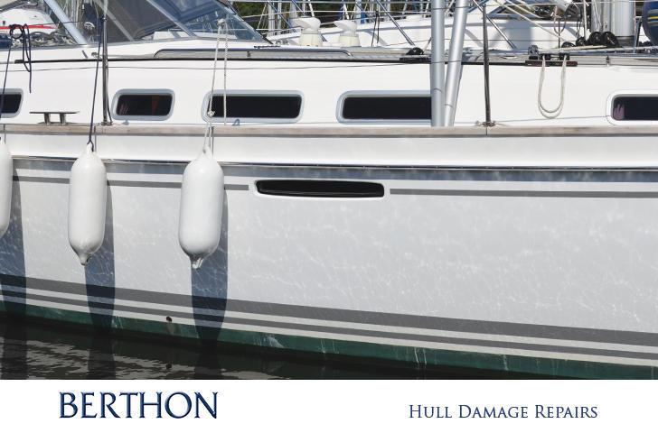 Finished product - hull damage repairs