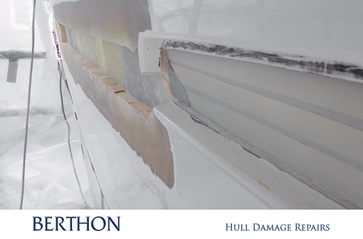 Hull damage repair preparation