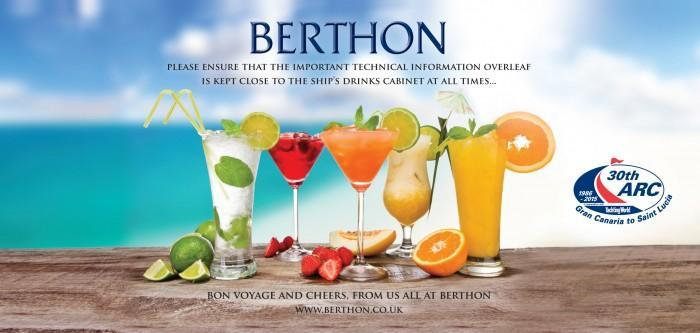 Berthon ARC Essentials - Cocktail List