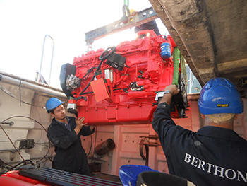 Commercial Yacht Engine replacement