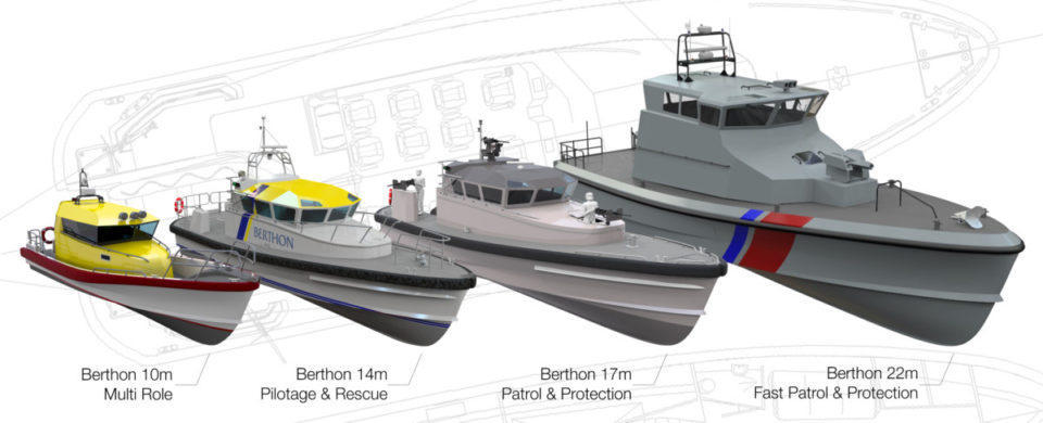 Commercial boat design range