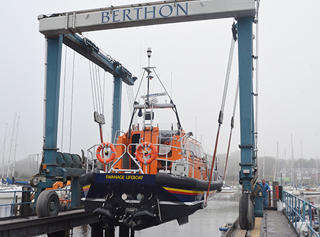 Shannon Class RNLI Lifeboat in Build at Berthon - Launch & Commissioning