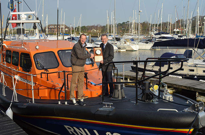 Dominic May, Berthon, Charles Hunter-Pease RNLI Chairman - 13-13 Acceptance Day