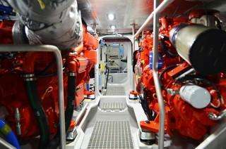 Engine room of shannon class lifeboat