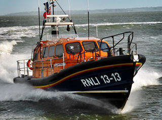 Shannon Class RNLI Lifeboat in Build at Berthon - Sea Trials