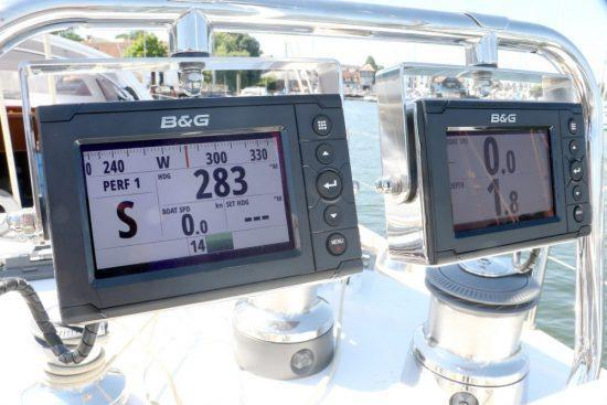 Installed marine navigation equipment