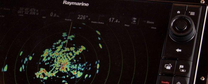 Raymarine radar display