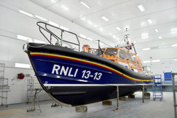 shannon lifeboat after paint in our state of the art Paint Shed